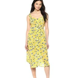 Moon River Button Front Fit & Flare Floral Midi